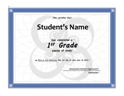 This is how you fill out the certificate.