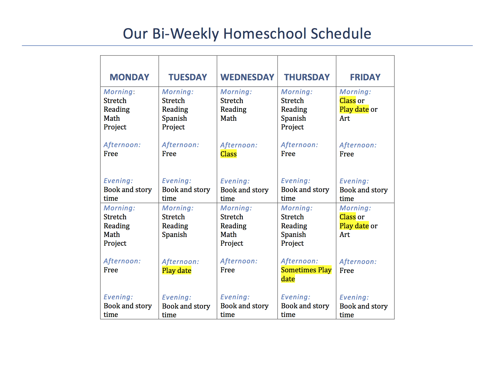 Worksheet Kindergarten Curriculum Free our 1st grade homeschool schedule and curriculum mama of letters mol weekly hs schedule