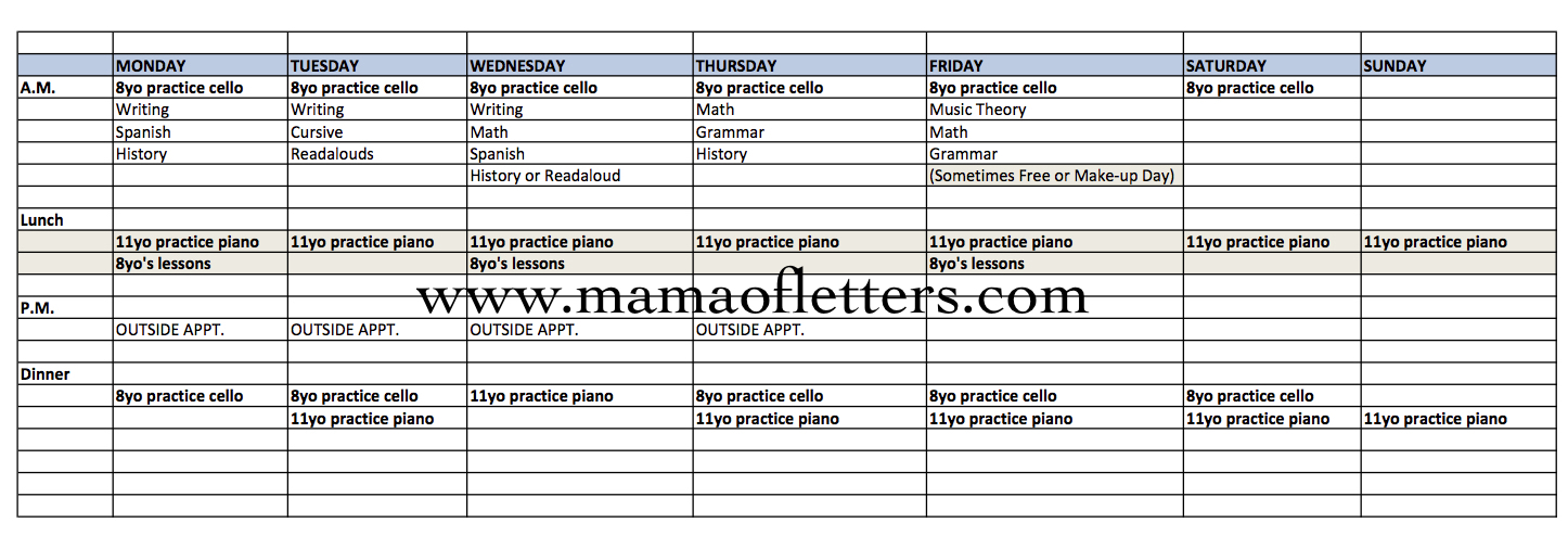 Our 5th Grade Homeschool Schedule and Curriculum | Mama of Letters